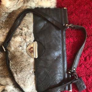 Bags - Showstopper: rabbit fur & leather satchel silver